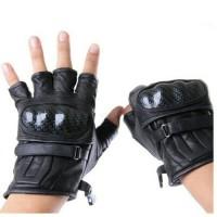 sarung tangan kulit asli / sarung tangan motor / half finger
