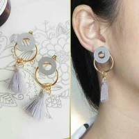 Anting Korea Handmade Tassel Long Pattern Simple Earrings/Anting Impor