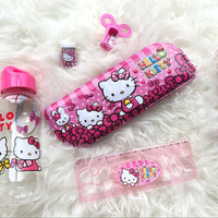 stationary set / kotak pensil / hello kitty set botol minum