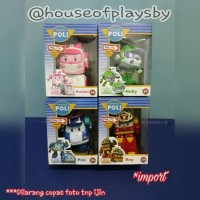 MAINAN ANAK FIGURE KARAKTER ROBOCAR POLI POLY SET 4PC IMPORT