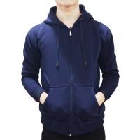 Best seller !!! Jaket Sweater Polos Hoodie Zipper/Resleting Navy
