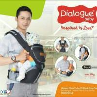 DIALOGUE Hipseat Black Series | Gendongan Bayi (DGG 1004)