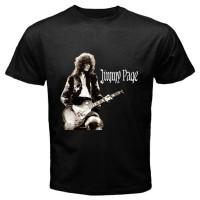 Kaos keren New Design JIMMY PAGE Led Zeppelin Guitarist Legend Black T