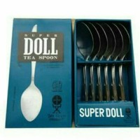 sendok teh kecil Stainless Steel super Doll isi 6 pcs/dus