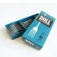garpu kue kecil Stainless Steel super Doll isi 6 pcs/ box