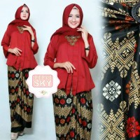 Kebaya Batik modern Luna Merah