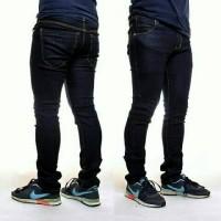 celana panjang jeans stretch skinny / slimfit pria
