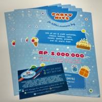 Cetak Brosur / Flyer A5 1 Sisi Art Paper 120gr/150gr