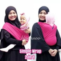 Hanaroo Simple Wrap Gendongan Kaos 2in1 Geos Bayi Praktis
