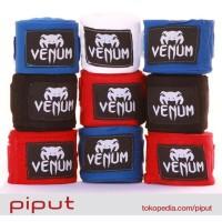 Venum Hand Wrap Wraps Handwrap Handwraps MMA Body Combat Boxing 4m - Hitam, 2.5m
