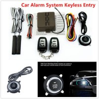 Keyless Entry Car Alarm System Push Button Remote Engine Ignition Star