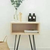 nakas minimalis/meja samping/side table/meja laptop/rak buku