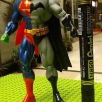 mainan action figure superman batman composite recast tinggi 7 inch