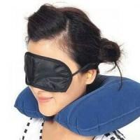 Bantal leher penutup mata dan telinga travel pillow