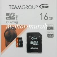 TEAM Micro SD Card 16gb 80MBps Class 10 + Adapter - Garansi Resmi