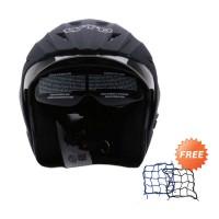 WTO Helmet Pro-Sight Hitam Doff Helm Half Face - Free Jaring Helm