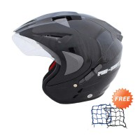 WTO Helmet Pro-Sight Hitam Helm Half Face