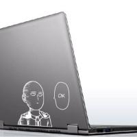 Stiker Aksesoris Laptop Anime One Punch Man Saitama Ok Face Garskin Fu
