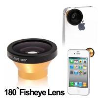 Termurah Fisheye Wide Angle Golden Lens 180 Degree for iPhone 4 & 4S