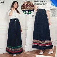 rok Maxi jeans Renda Reniya Long skirt Jeans