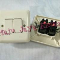 Saklar Seri Tanam Tembok Sakelar Broco 2 Switch Inbow IB New Gee