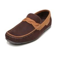 Sepatu Kulit Asli Pria |Drover - Coffee, Sepatu Kulit Moccasin