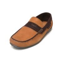 Sepatu Kulit Asli Pria | Darwin - Tan, Sepatu Kulit Moccasin