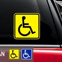 Stiker Mobil Kursi Roda Wheel chair sign Sticker Tempel dr kaca dalam