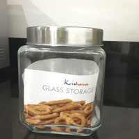 canister tempat kue cantik tutup stainless