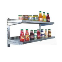 Rak Dinding Dapur resto Stainless Steel AWS-180 - Double Wall Shelves