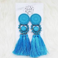 NICKY - LIMITED EDITION LIGHT BLUE STATEMENT EARRINGS