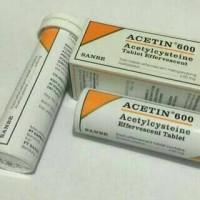 acetin 600mg efervesent tablet
