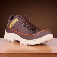 Sepatu safety pria kulit model ter anyar caterpillar