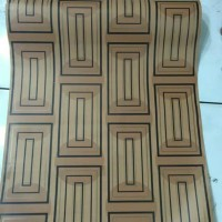 hiasan dekorasi wallpaper dinding minimalis kotak cokelat