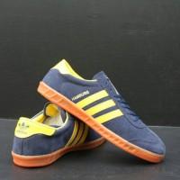 Sepatu Adidas Hamburg / Adidas Hamburg Navy yellow ( Sepatu murah )