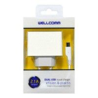 Travel Charger 2USB (1A & 2A) Wellcomm