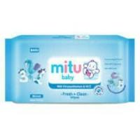 PROMO MITU Baby Soft Care Wipes Blue Regular isi 50