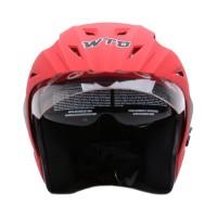 WTO Helmet Pro-Sight Merah Doff Helm Half Face