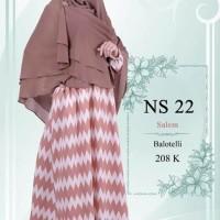 Gamis Nibras Syari NS22 Salem Baloteli Motif Tribal Busui Model Payung