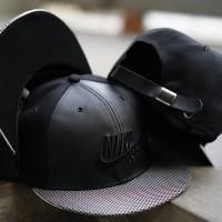 Topi Snapback Baseball Cap Nike Hitam Import