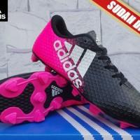 Sepatu Bola/ futsal Adidas X 16.2 Techfit Hitam Pink KW Super