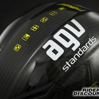 Stiker / Sticker Helm AGV & Tanda Tangan Valentino Rossi Signature