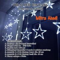 Lampu Natal Tirai LED Bintang Putih/White 138 LED 3 Meter