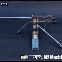 """ZY Toys 1:6 Scale US ARMY M2 Machine Gun Black Color Fit for 12"""" Actio"""
