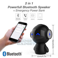 2 in 1 Speaker Bluetooth Portable + Power Bank Robot Style