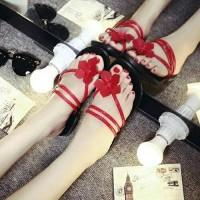 Sandal Wanita Flat Bunga Cantik Lucu//SHF1688