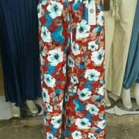 Celana kulot Linen Motif Panjang Cantik KantorHarian Murah Berkualitas