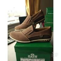 GATS SHOES Sepatu Kulit Casual Pria Keren Original Murah PB 3705 brown