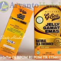 Walatra G-Sea Jelly Gamat Emas Rasa Jeruk 100% ORIGINAL  PRODUK BARU
