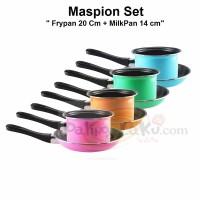 Maspion Pastela- Frypan dan Milkpan Set - 20 cm dan 14 cm